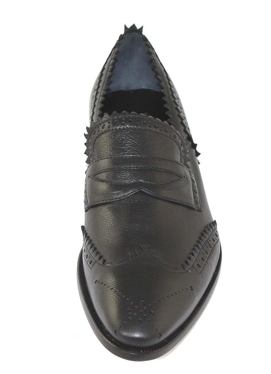 John Galliano Herrenschuhe Schuhe Slipper Schwarz Schuhe 8658 Schwarz Slipper b81dc8