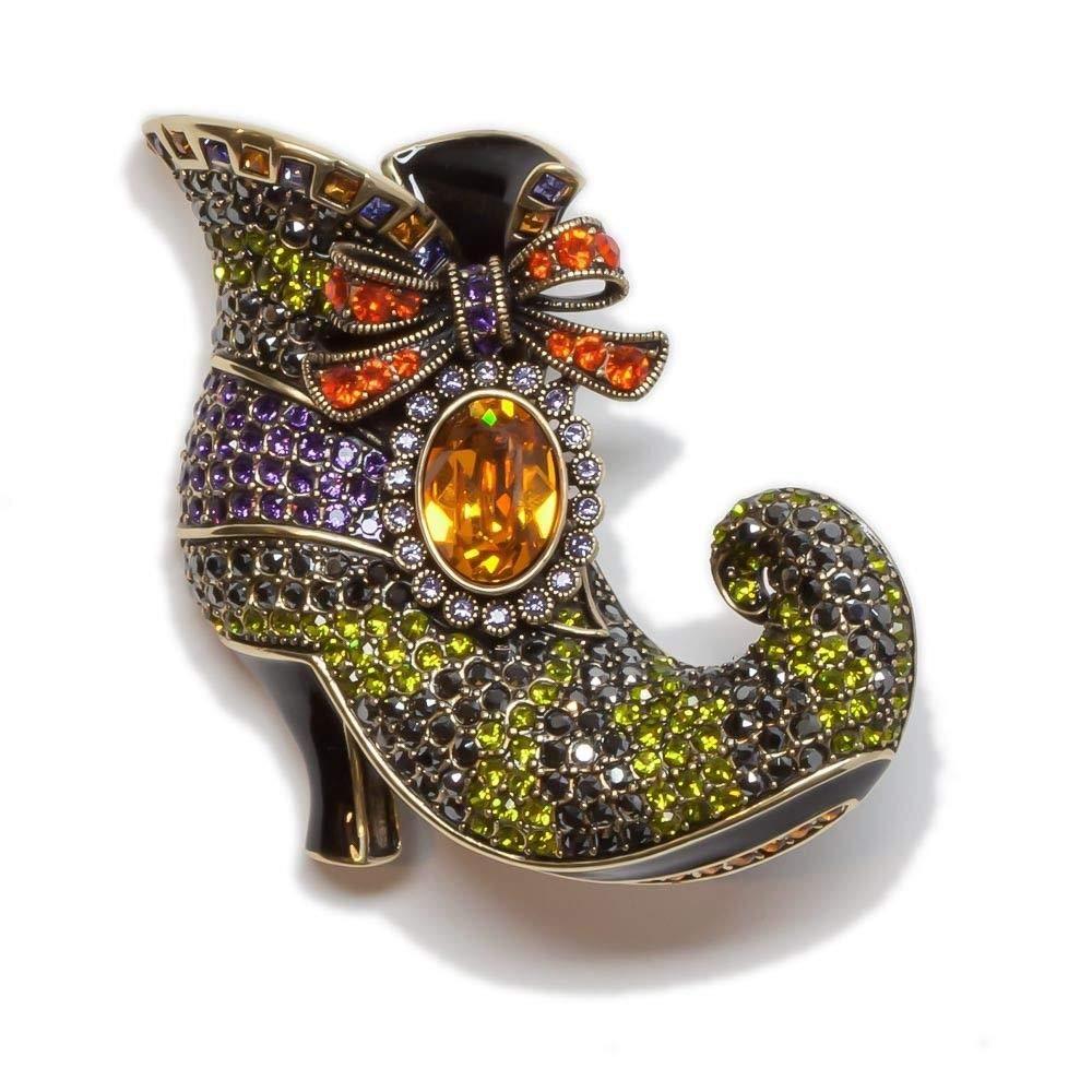 Heidi Daus Walk Witch Way Crystal Pin Swarovski Crystals Halloween Beauty