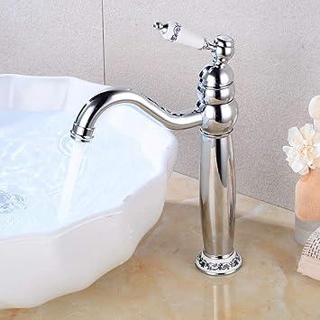 Retro Waschtischarmatur Hoch Einhebel Wasserhahn Vintage Waschbecken Mischbatterie Retro Kuche Bad Armatur Amazon De Baumarkt