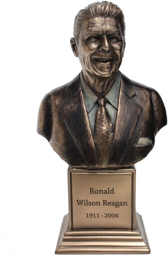 Ronald W. Reagan Bust Statue Cold Cast Bronze 7 1/2 Inch Tall