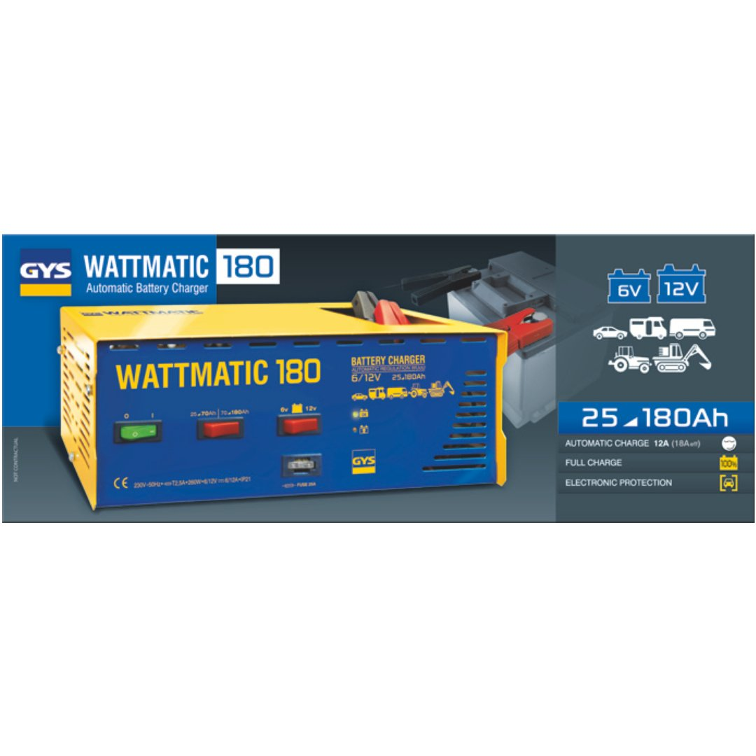CHARGEUR WATTMATIC 180-6//12 V GYS 024861