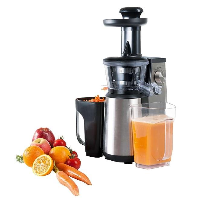 edelstahl entsafter mit ausgiea er saftpresse 1 liter behalter zerkleinerer obstpresse starke 400 watt 3 stufen fruchtsaft presse gemusesaft