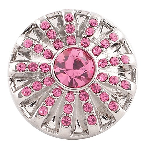 (Chunk Snap Charm October Birthstone Interchangeable Jewelry Snaps 20mm 3/4