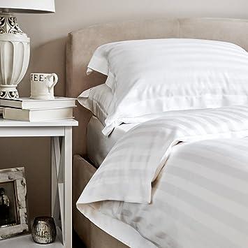 Bambus Bettwasche Luxus 100 Bambus Weisse Satin Streifen Bettbezug
