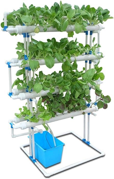 ZDYLM-Y Kit de Cultivo hidropónico, 4 Capas 88 sitios de Plantas PVC 8 Tubos Sistema de Cultivo hidropónico, Sistema de jardín Herramienta de Vegetales: Amazon.es: Deportes y aire libre