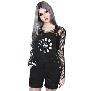 20662f76ff00 Killstar - Salopette - Salopette - Femme Noir Noir  Amazon.fr  Vêtements et  accessoires