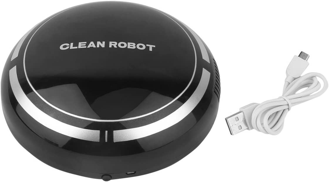 Mazurr Mini Aspiradora Inteligente Eléctrica Inalámbrica Automática Redonda Inteligente Redonda Aspirador Robot para el Hogar (Color: Negro)
