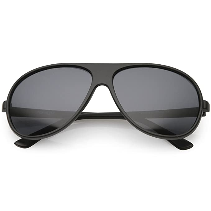 Amazon.com: sunglassla – Retro Oversize parte superior plana ...