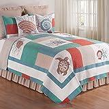 C&F Home Folly Beach Quilt, Full/Queen, Seafoam