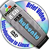 Kubuntu 16.10 on 8gb USB Stick Flash Drive and Complete 3-discs DVD Installation and Reference Set, 32 and 64-bit