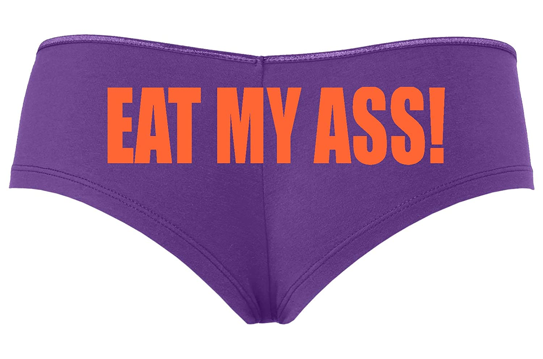 Knaughty Knickers Eat My Ass Oral Anal Slut Boyshort Panties Underwear
