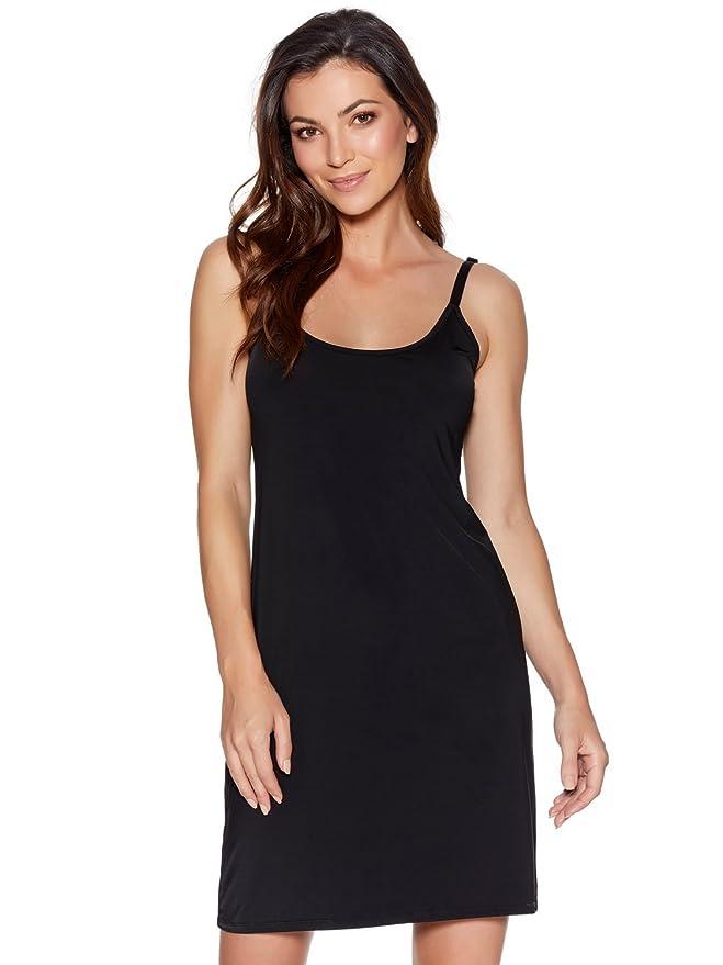 3a2105d100 M Co Ladies Shapewear Plain Stretch Microfibre No VPL Smoothing Full Slip  Dress  Amazon.co.uk  Clothing