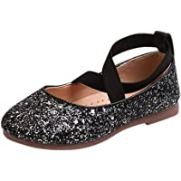 YanHoo Zapatos para niñas pequeñas Lentejuelas Infantiles Banda elástica Zapatos Solos Zapatos Princesa Zapatos de Baile Niños Bebé Infant Toddler Girls Lentejuelas Princesa Zapatos de Baile