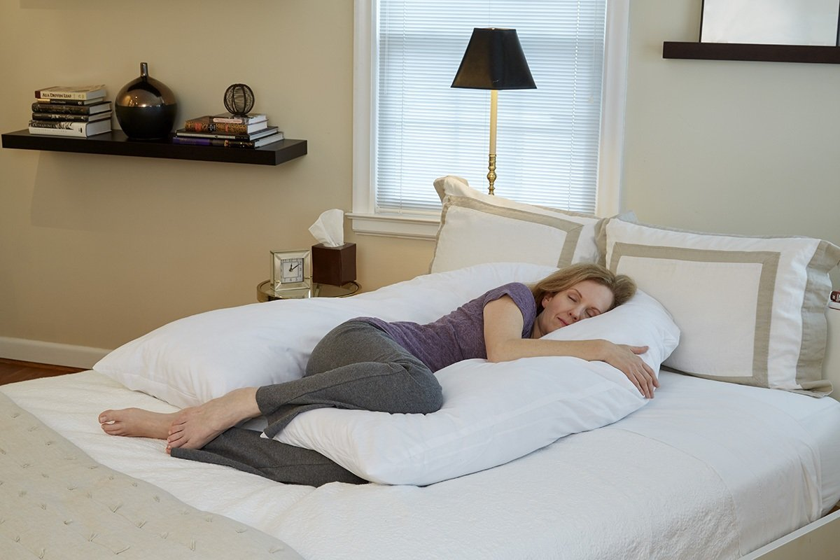 Hermell Products Inc BP7200MO Total Body Pillow, 66''