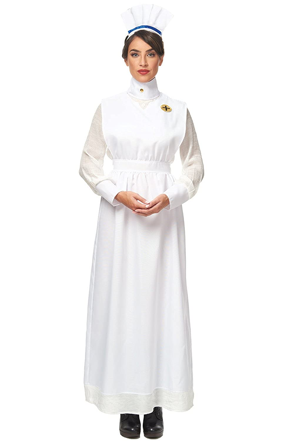 Easy DIY Edwardian Titanic Costumes 1910-1915 Franco Vintage Nurse Adult Costume-  AT vintagedancer.com