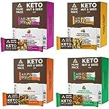 Munk Pack Keto Nut & Seed Bars 48 Pack Bundle (12 Pack Sea Salt Dark Chocolate, 12 Pack Peanut Butter Dark Chocolate, 12…