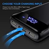 INIU Portable Charger, LED Display 20000mAh Power