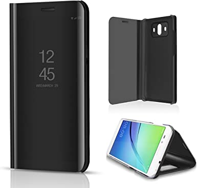 Huawei Mate8 Case, Translucent Window View Flip Wallet Stand Funda ...