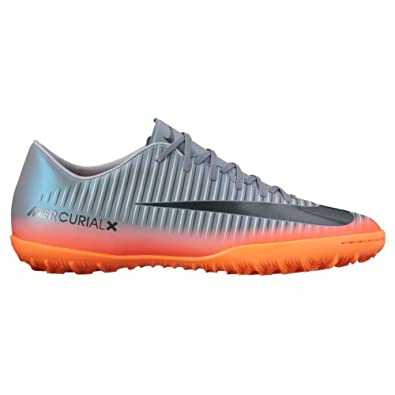 the best attitude d1c2b 7fe01 Nike Men s MercurialX Victory VI CR7 (TF) Turf Soccer Shoe Cool  Grey Metallic