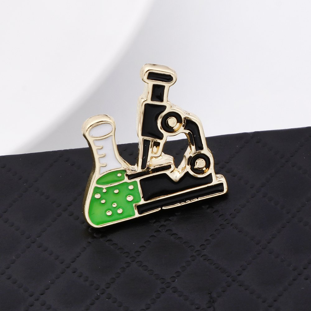 SENFAI Gold Color Microscope Pin and Brooch (20pck) by SENFAI (Image #2)