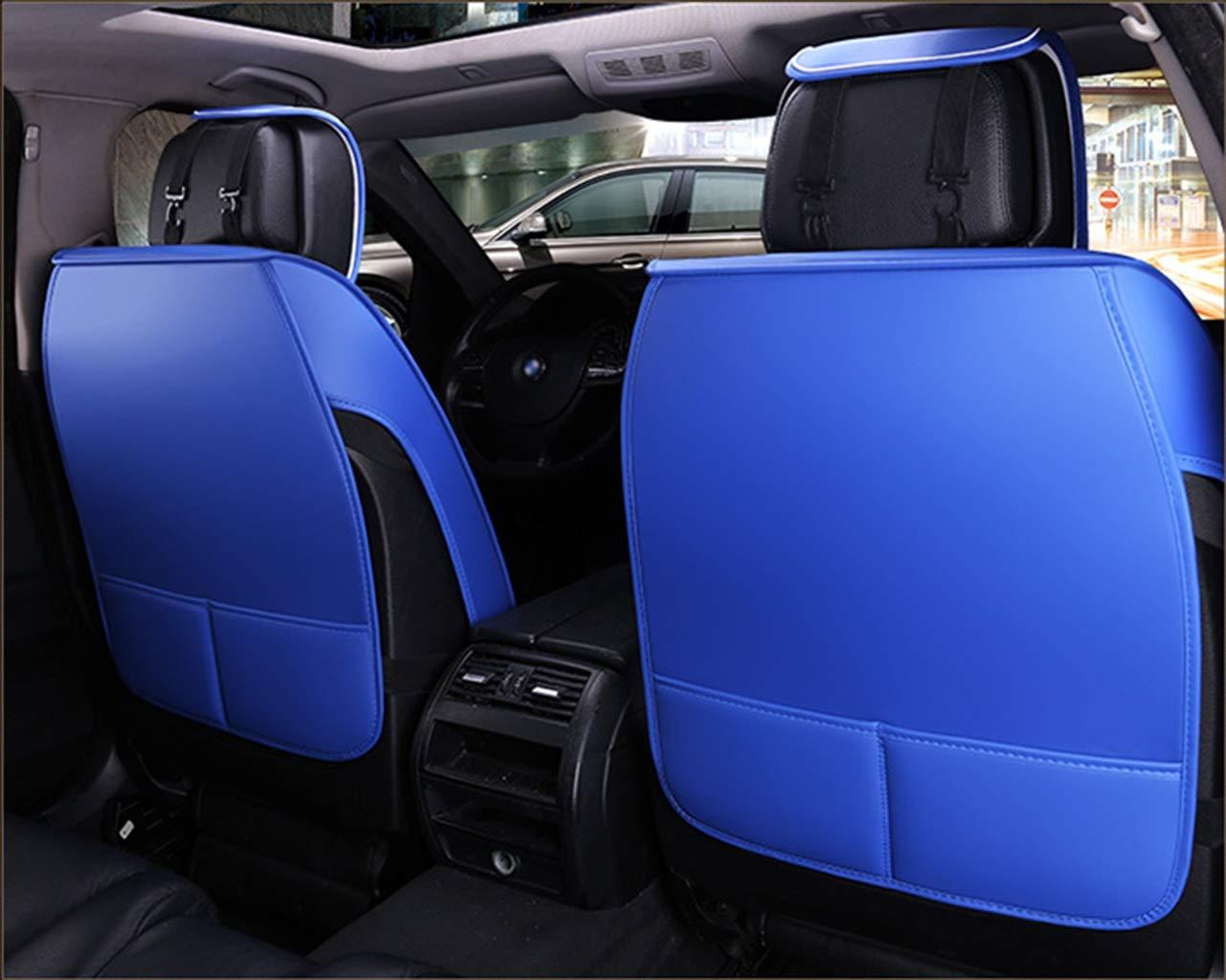 Farbe : Red Ededi Leder Sitzbez/üge-Set 9-Teiliges Set Universal Gitter Autositzbez/üge Set Voll Auto Vorderseite und R/ückseite