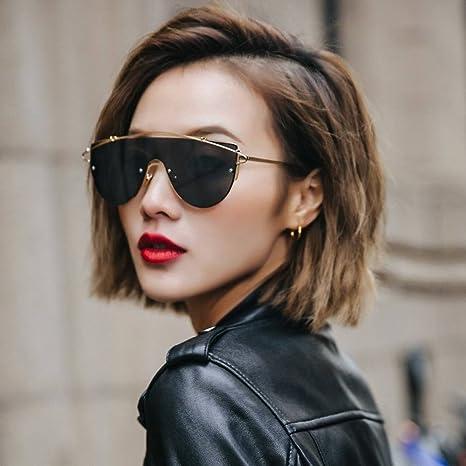 AN Occhiali da vista femminili di colore rosa trasparente moda femminile occhiali da sole street color occhiali da vista,D,Taglia unica