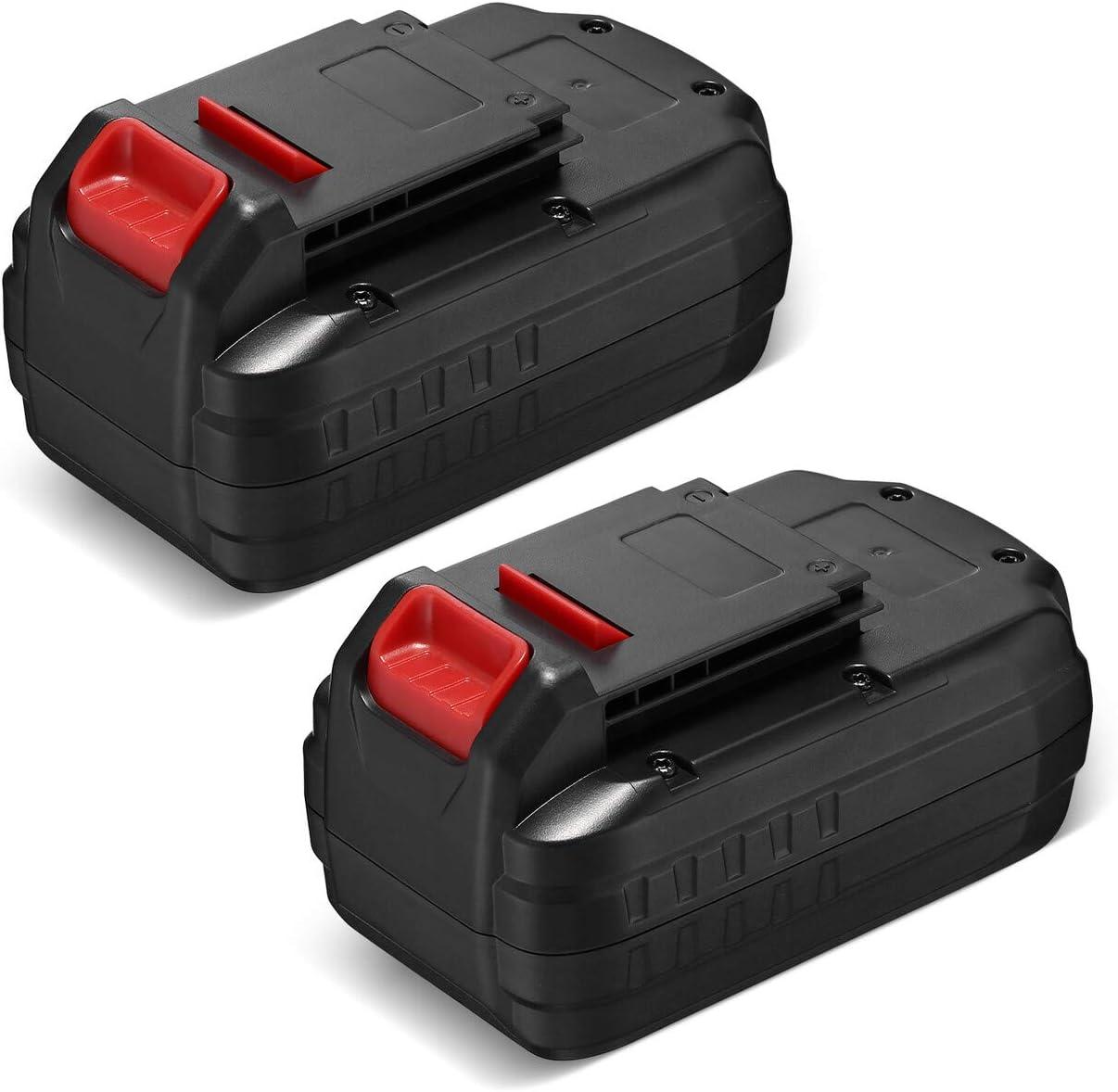 Dutyone 2 Pack 3700mAh Replacement Battery Compatible with Porter Cable 18V Cordless Power Tools PC18B Ni-CD PCC489N PCMVC PCXMVC PCC489N PC18BL PC18BLX PC18BLEX PC18B-2 18-Volt Batteries