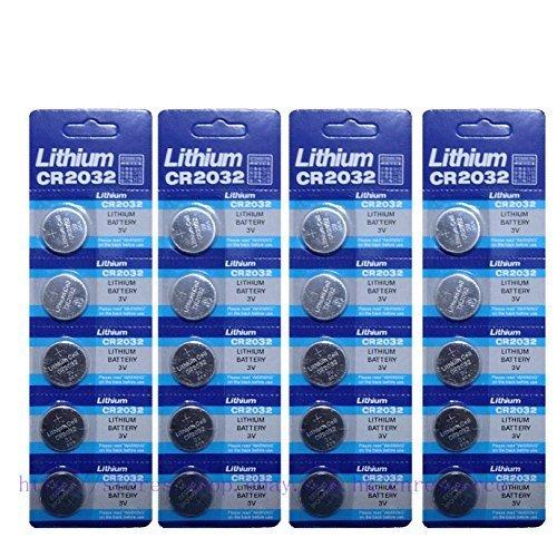 Generic Cr2032 Br2032 2032 3V Lithium Batteries 20 Pcs 4 Cards FBA