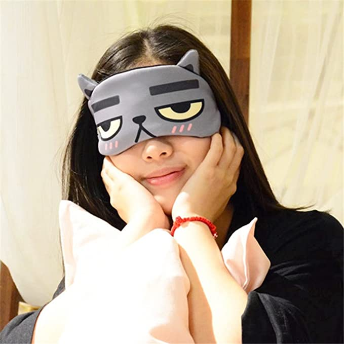 5 X NOIR VOYAGE YEUX MASQUE MASQUES SOMMEIL SOMMEIL RELAXANT BANDEAU EYEMASK