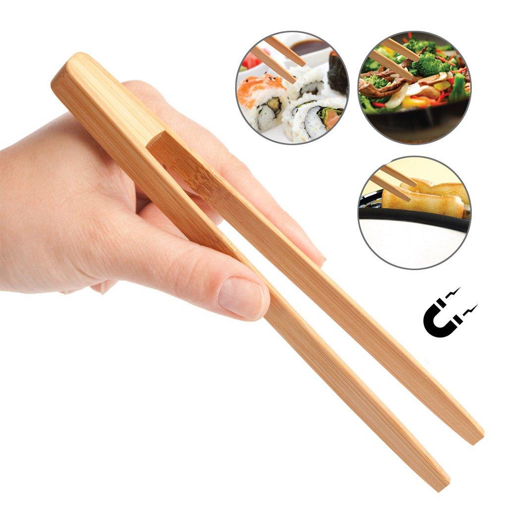 Balvi/-/Toasts//&/More/Pinza/de/bamb/ú/para/Sacar/Tostadas,/Comer/Sushi/y/Otras/Funciones