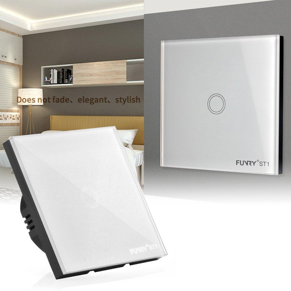 FUNRY Kristallglas Platte Smart Touch Home Wandleuchte: Amazon.de ...