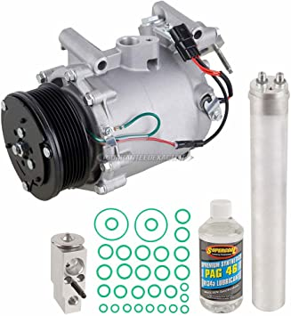 AUTEX AC Compressor and A//C Clutch Assembly CO 4919AC 38800RRBA010 Replacement for Acura CSX 2006 2007 2008 2009 2010 2011 2.0L//Honda Civic 2006 2007 2008 2009 2010 2011 2.0L
