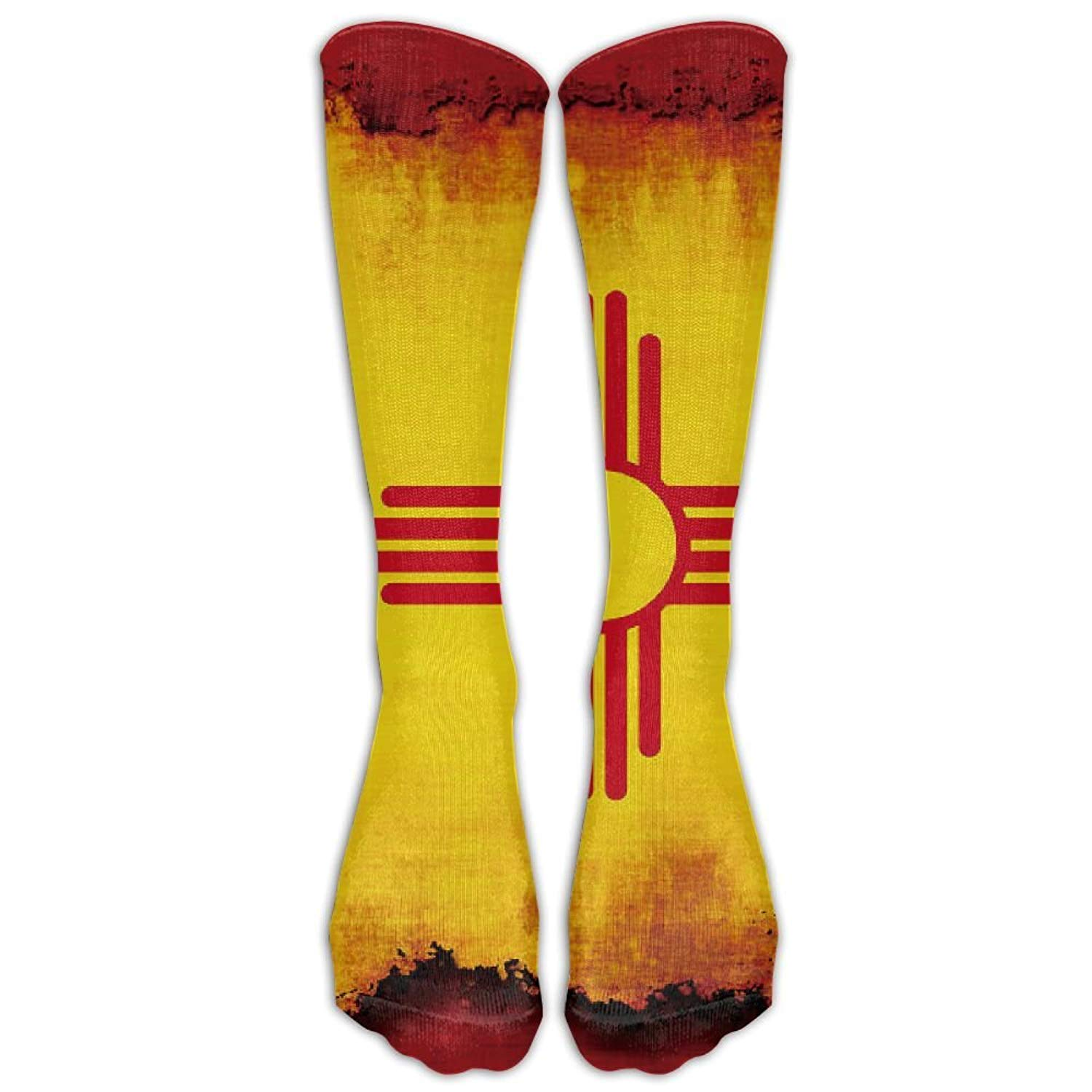 Amazon.com: New Mexico Flag Grunge Long Novelty Socks Calf High Outdoor Sock Unisex: Health & Personal Care