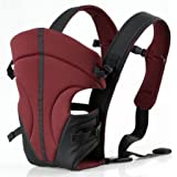 ECOSUSI Classic Front and Back Baby Carrier, Purplish Red