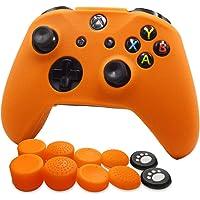 FOTTCZ Anti-Slip Soft Silicone Cover Skin Set for Microsoft Xbox One Controller which 1pcs Orange Controller Skin + 8pcs…