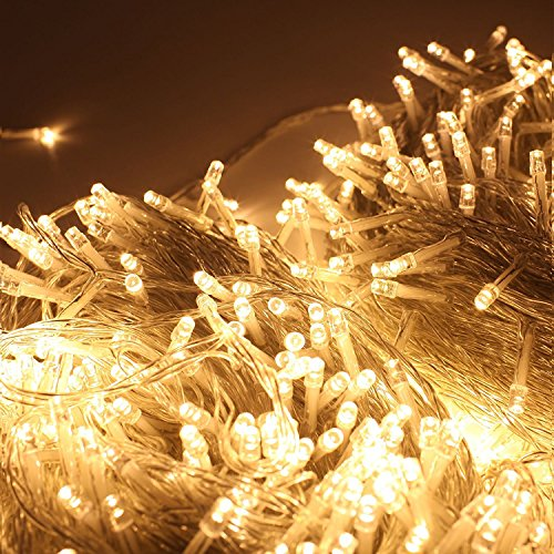 zoic 500 leds christmas wedding party fairy string lights lamp 100m328feet 8 modes 31v memory function warm white