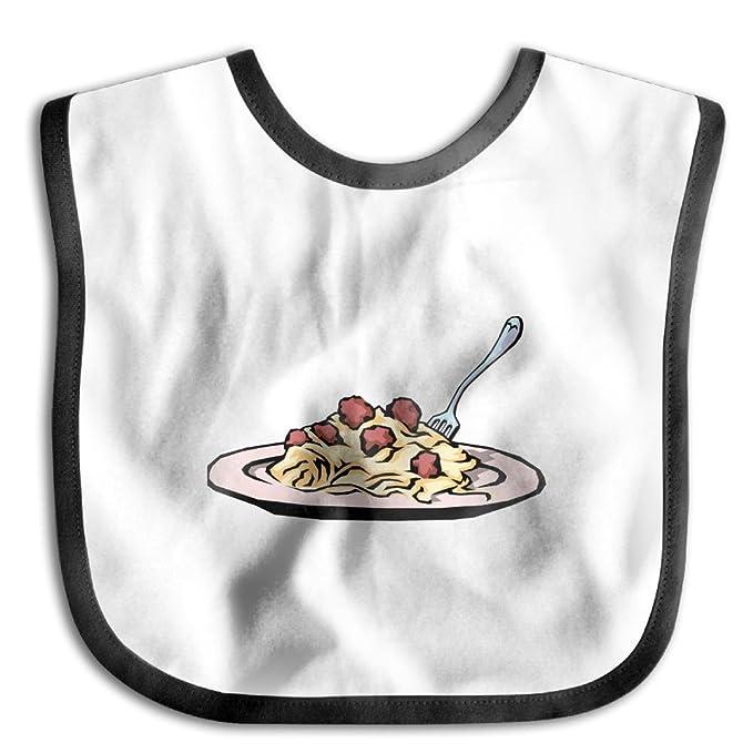 Amazon.com: I Love Spaghetti - Babero de algodón para bebé ...