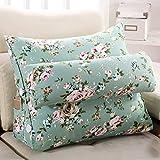 DW&HX Triangular wedge Reading pillow,Back cushion Pillow Sofa [office] Floating window Waist cushion Waist Pillowcase-S 66x22x50cm(26x9x20inch)