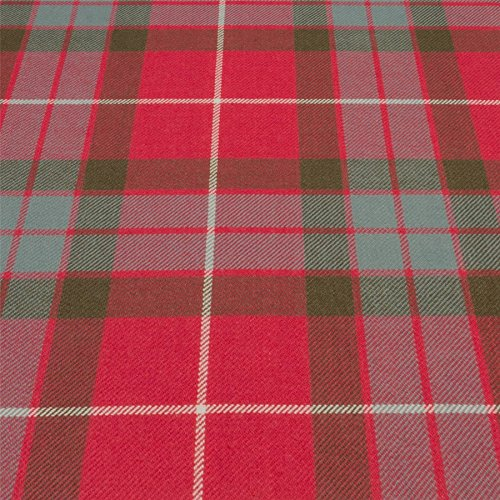 Light Weight 10oz Fabric Material Fraser Red Weathered Tartan 1 Metre