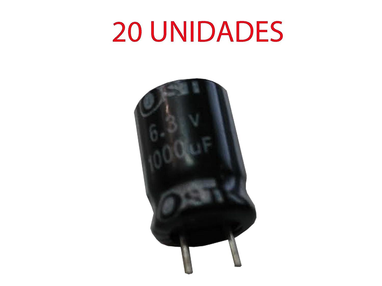 Lot de 20 condensateurs /électrolytiques polaris/és 1000uf 6,3/V