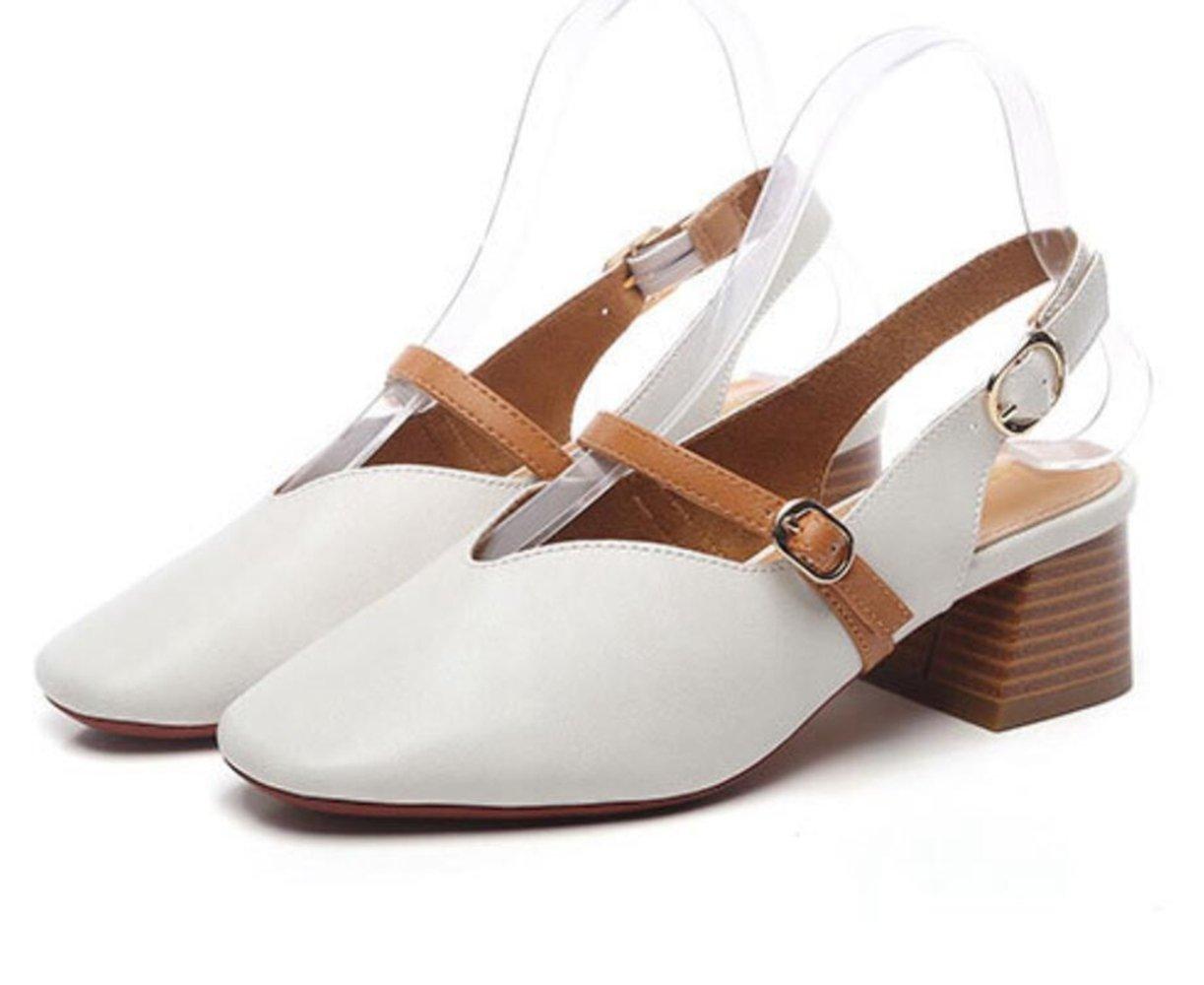 LINYI 16224 Femmes Dames 2018 Nouvelles Casual Sandales Tête Carrée Casual LINYI Mary Jane Chaussures De Mode Beige 16da5f2 - reprogrammed.space