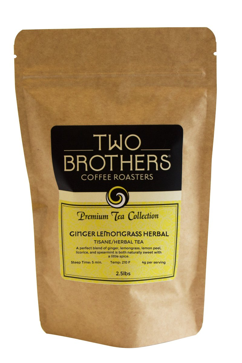 Two Brothers Coffee Roasters Premium Tea Collection Ginger Lemon Herbal - Tisane / Herbal - 2.5lb by Two Brothers Premium Teas