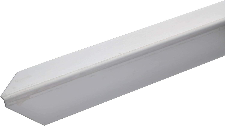 acerto 34048 Perfil de protección angular de acero inoxidable 150cm / 30 x 30 mm * Autoadhesivo * Made in Germany * Triple canto con punta | Perfil angular barra angular como protección