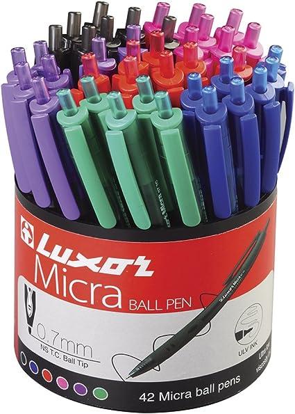 Luxor 1780/42DU - Pack de 42 bolígrafos: Amazon.es: Oficina y ...