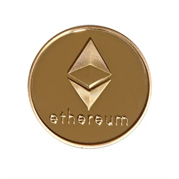 SSEELL Gold Plated Ethereum Decorative Coin Collectible Gift