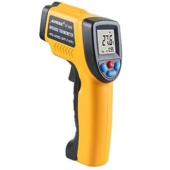 Autool IT100 termómetro de infrarrojos sin contacto laser LCD pantalla Digital C/F Selección por
