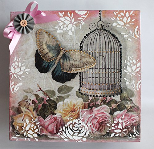 Mother's day gift ideas, decoupage box, wooden box, storage box,