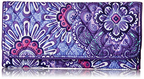 Vera Bradley Women's Trifold Wallet, Lilac Tapestry, One Size