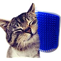 Heyuni. Pet Cat Self Groomer Brush Wall Corner Grooming Massager Comb Catnip Toy