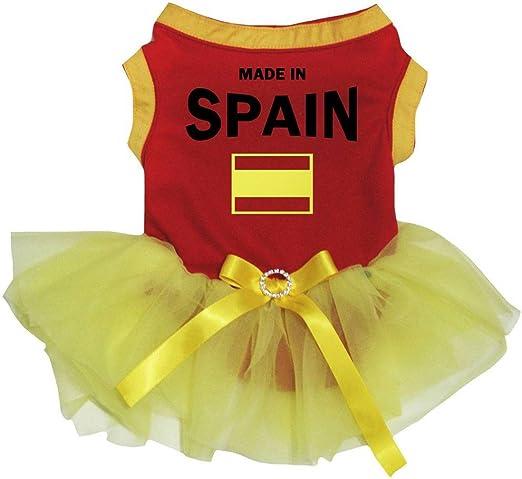 Petitebelle Ropa para perro, fabricada en España, algodón rojo ...